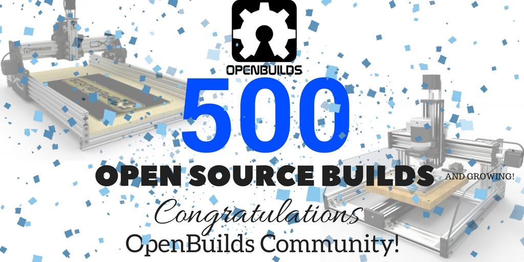 OpenBuilds Milestone 500 Open Source Machine Builds